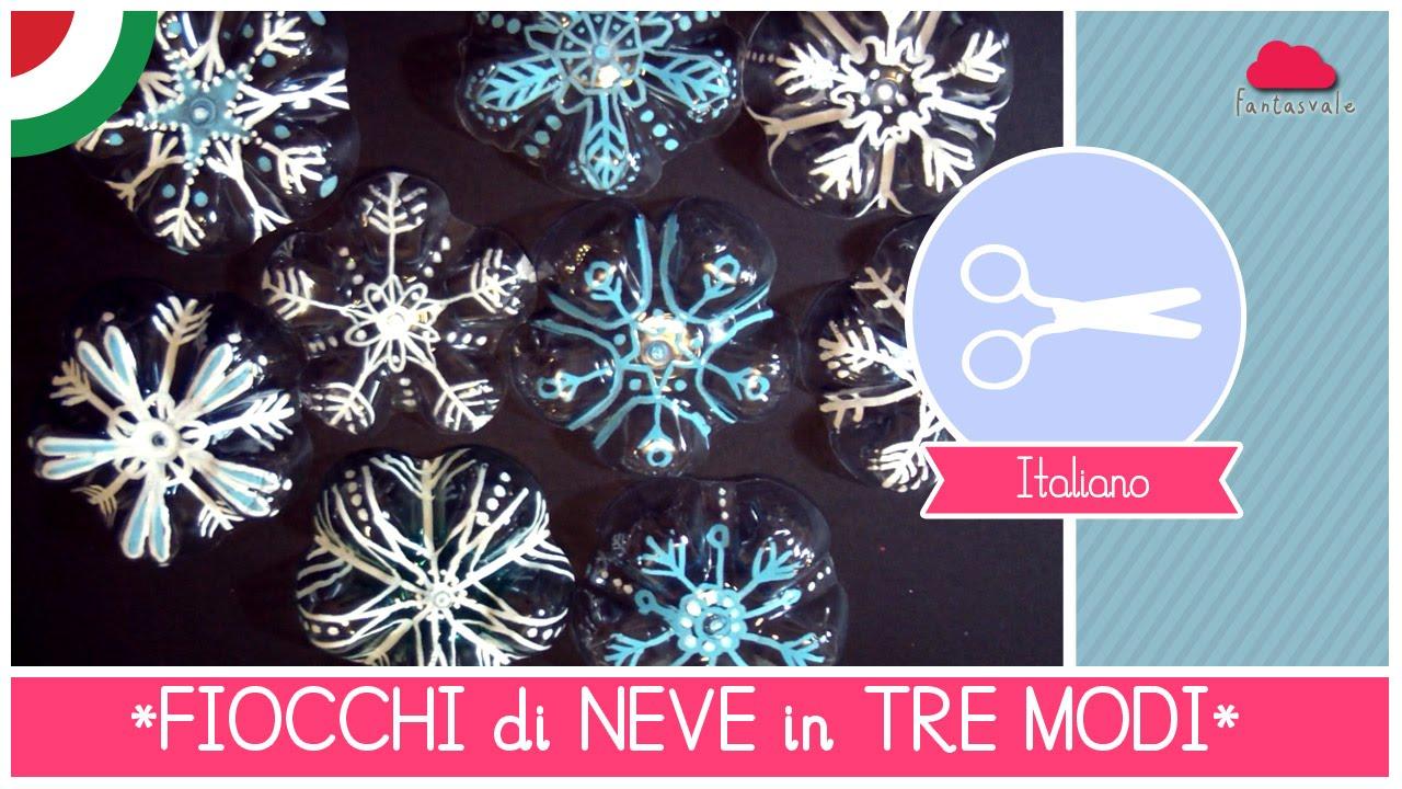 Decorazioni Natalizie Fiocchi Di Neve.Decorazioni Natalizie Diy Fiocco Di Neve In 3 Modi Facili Veloci Ed