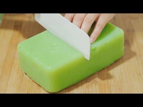 黄瓜味凉粉的做法,口感爽滑筋道,干净卫生无添加