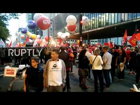 LIVE: Anti-Temer protesters take to the streets of Sao Paulo