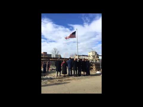 Mercy College retires an American flag after 50 years.