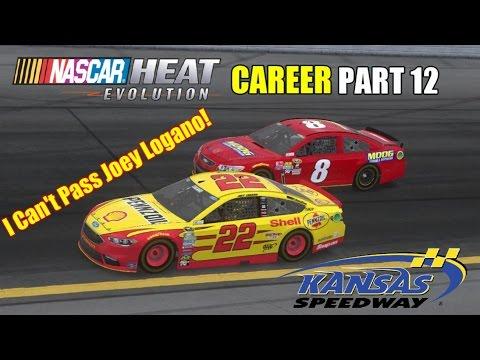 I Can't Pass Joey Logano! (Kansas)   NASCAR Heat Evolution Career PART 12