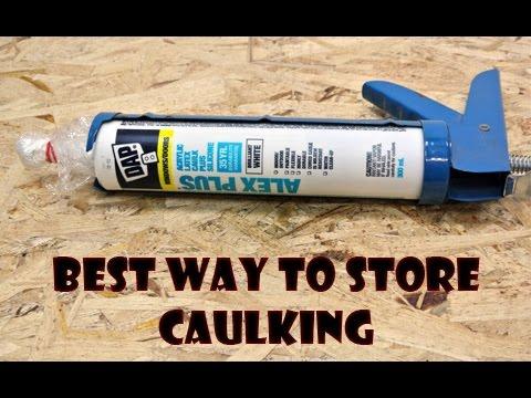 Best Way to Store Tube Caulking - Life Hack