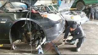 Removing Engine 2007 BMW 325xi Live