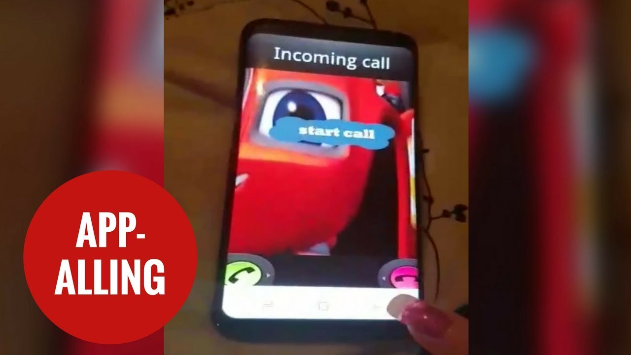 App based on a TV cartoon makes a chilling prank call