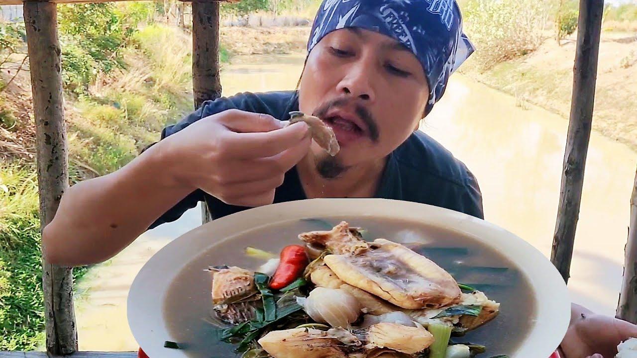 แกงปลาช่อนใหญ่ใส่ผักติ้ว พุงใหญ่ๆพวงไข่เเน่นๆ เนื้อปลานุ่นๆ