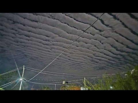 غيوم غريبة في جويريرو بالمكسيك! وعاصفة ثلجية تضرب نبراسكا بالولايات المتحدة الأمريكية