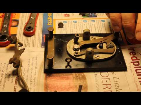 My J-38 Telegraph Keyer Part 1 of 2 (Taking it apart to be cleaned)