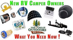 New Owners RV Camper Gear Supplies Top Item Essentials For Newbies