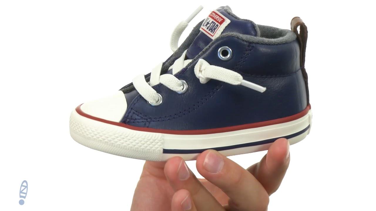 88650deeebfc Converse Kids Chuck Taylor All Star Street Leather and Fleece Mid (Infant  Toddler) SKU  8904935