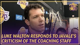 Lakers Interview: Luke Walton Responds to JaVale McGee's Criticism of the Coaching Staff