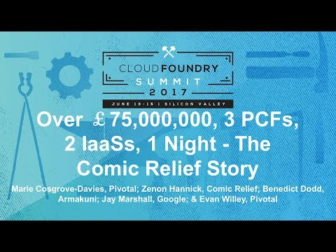 Over £75,000,000, 3 PCFs, 2 IaaSs, 1 Night - The Comic Relief Story
