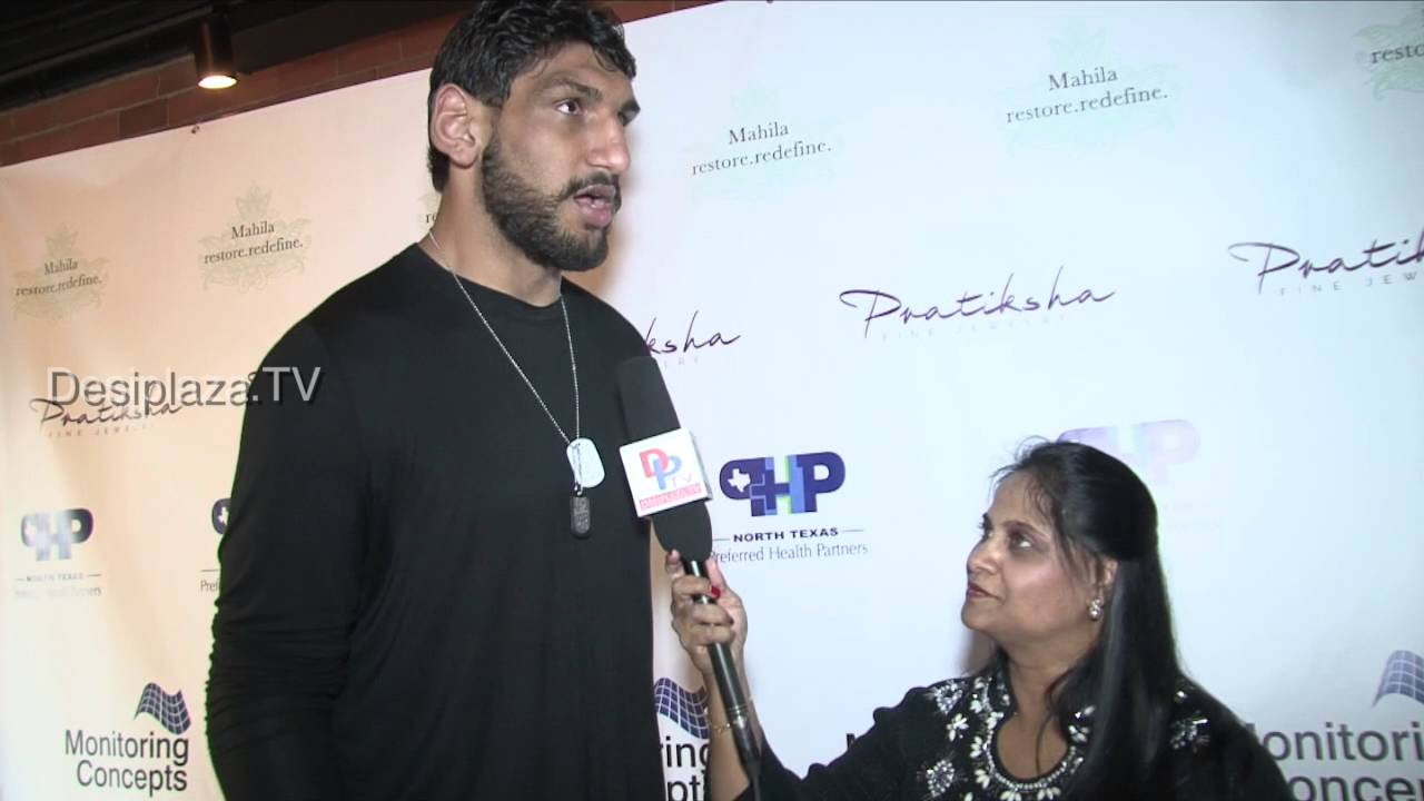 Satnam Singh, First Indain NBA draft speaking at Mahila Fund Raising