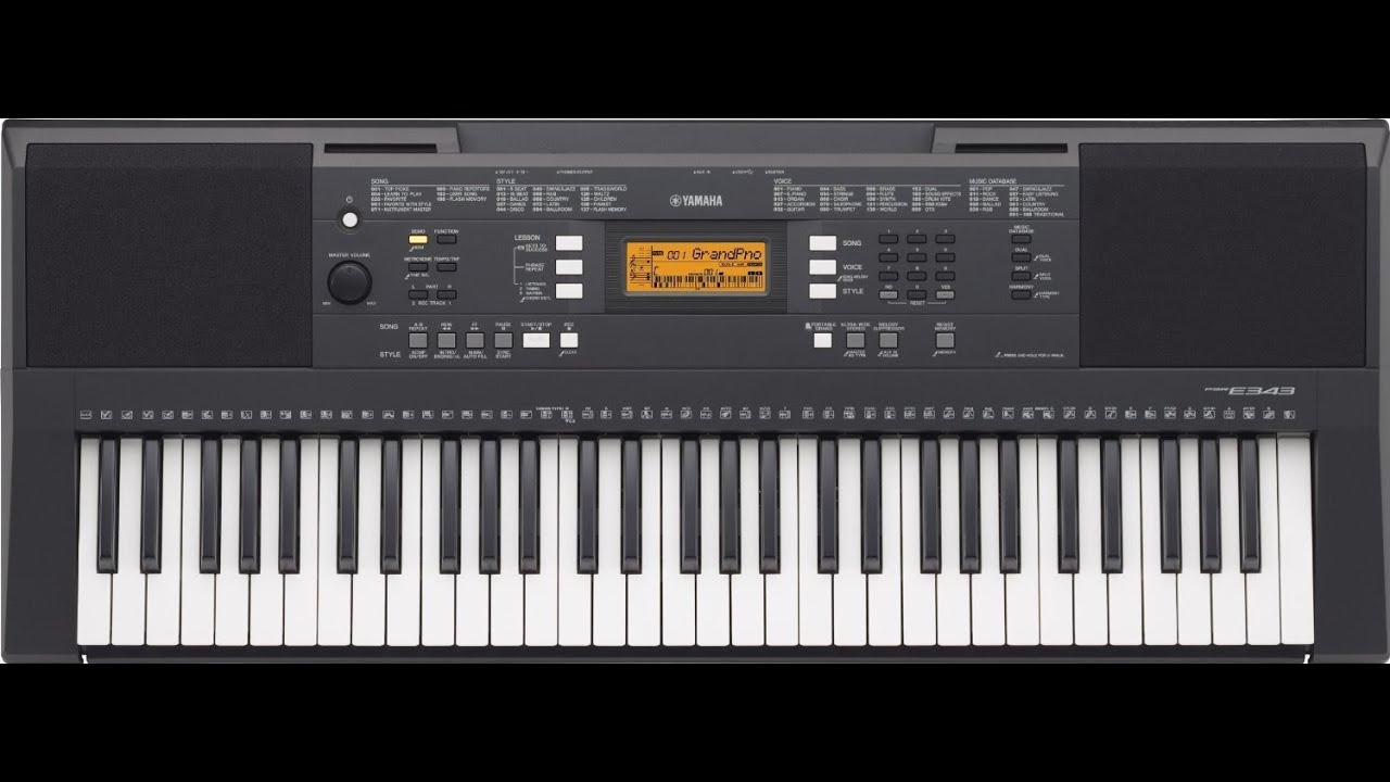 yamaha psr e343 review key portable review yamaha digital pianos youtube. Black Bedroom Furniture Sets. Home Design Ideas