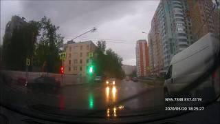 Driving in Moscow agglomeration: Кунцево - Захарково 20/05/2020 (timelapse)