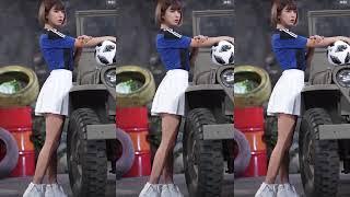 Nữ Cầu Thủ Xinh Đẹp Bên Siêu Xe Khiến Ai Cũng Ngoái Nhìn - Remix Hay 2021