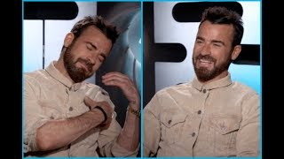 Justin Theroux On Who He Shares His Bed With & Social Media Being Like A Magazine