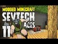 Minecraft SevTech: Ages | 11 | Blood Base Expansion! | Modded Minecraft 1.12.2
