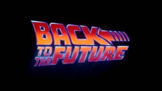 Back to the Future trilogy logos.