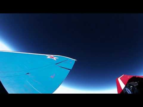 High Altitude Stratosphere Flight in a Supersonic Fighter Jet 360°