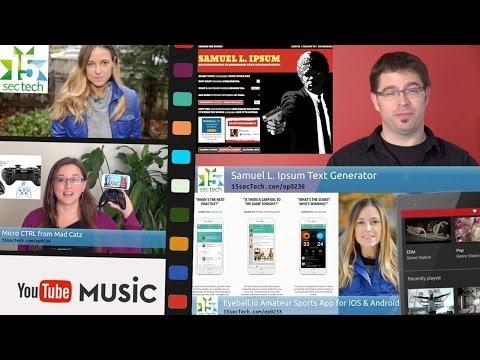 15secTech Wk1511b: Eyeball Youth Sports App, Samuel L. Ipsum, YouTube Music, and more!