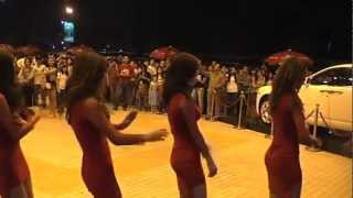 Cambodia Beer Models Sistar Tahiti Concert Phnom Penh 2013