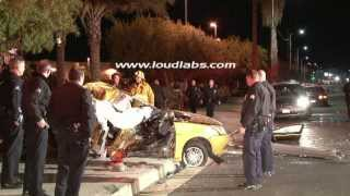 DUI Driver Kills Own Passenger / Northridge   RAW FOOTAGE