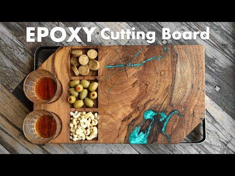 Trash Wood To Treasure - DIY Epoxy Cutting Board / Serving Board