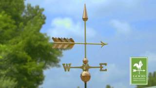 Gd611sp Arrow Weathervane Polished Copper