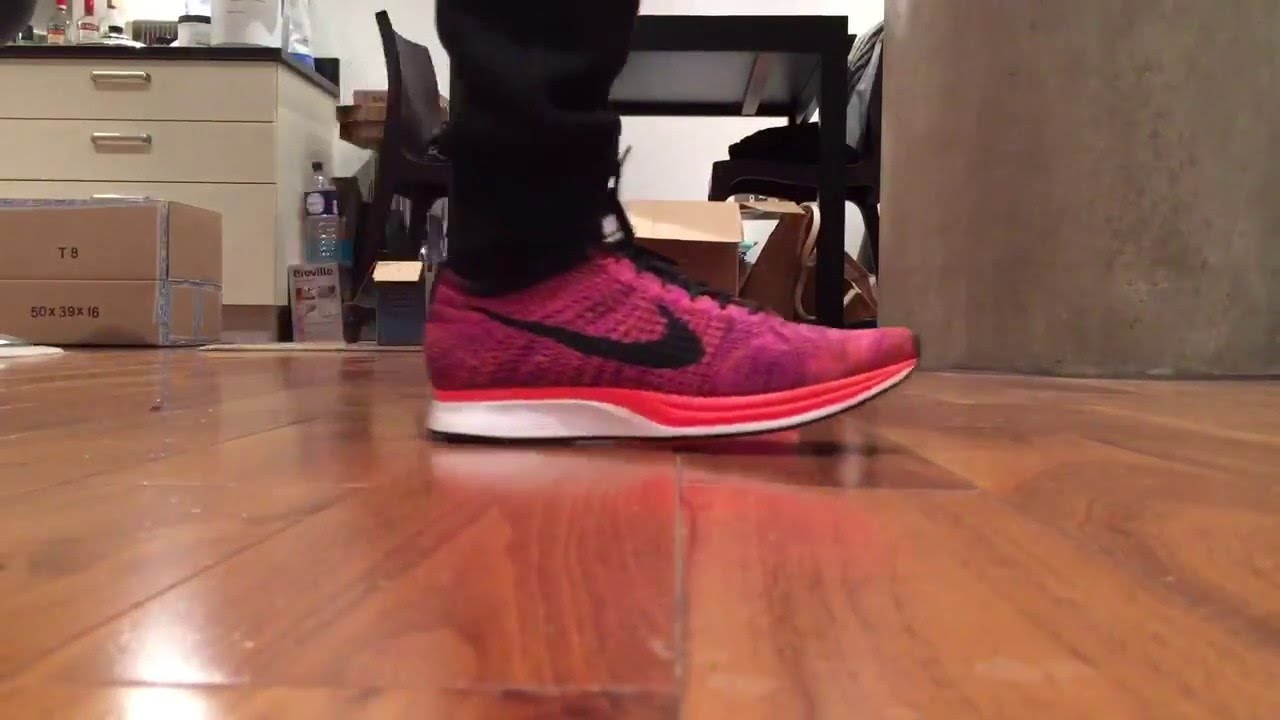 b6be438e2ef45 Nike Flyknit Racer  Acai Berry  Colourway Quick ON Feet - YouTube