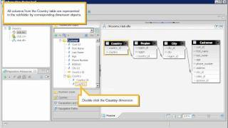 Create a business layer subfolder and objects automatically: Information design tool 4.x