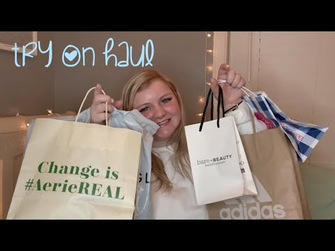 Clothing Try On Haul :p (american Eagle, Aerie, Adidas, Etc)