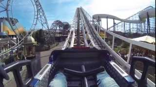 Avalanche - Blackpool Pleasure Beach front seat on ride POV 2.7k