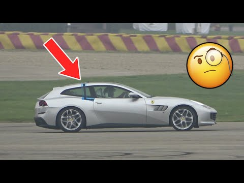 What is FERRARI testing on this GTC4 Lusso?? 👀