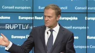 LIVE: Juncker and Tusk hold press conference after European Council
