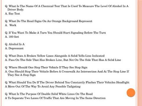 New Jersey Motor Vehicle Knowledge Test