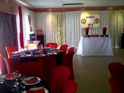 Darryl 21st Birthday Party Manchester United themed decor YouTube