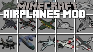 Minecraft PLANE MOD / FLY YOUR OWN AIRLINE CARRIERS AND BLOW THEM UP!! Minecraft