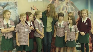 Bindi Irwin talks to students on the importance of trees!