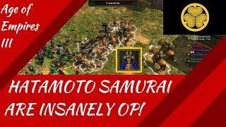 Hatamoto Samurai are INSANE!! AoE III