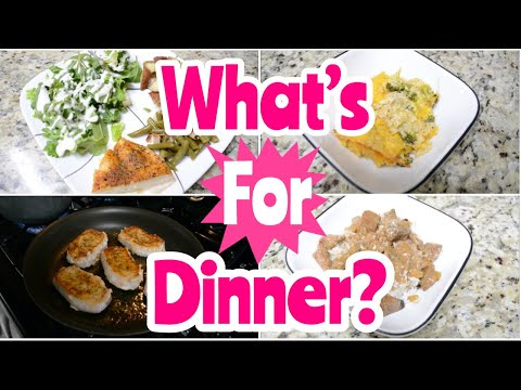 WHAT'S FOR DINNER   Easy Weeknight Meals   Healthy Dinner Ideas   Working Mom Easy Dinner Recipes
