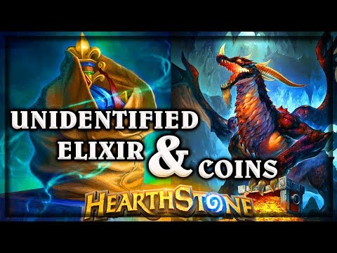 Unidentified Elixir and Coins ~ Kobolds & Catacombs ~ Hearthstone