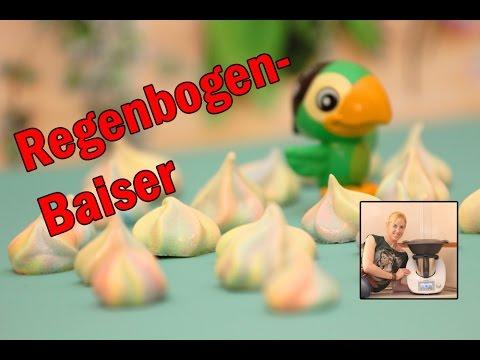 Regenbogen Baiser Eischnee Schlagen Im Thermomix Youtube