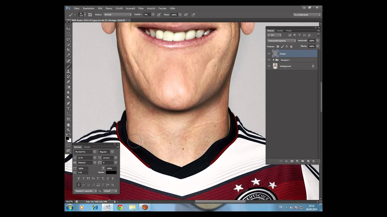 Photoshop Tutorial - Hautbearbeitung /Beauty Retusche ...