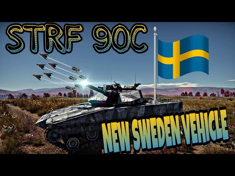 War Thunder NEW SWEDEN VEHICLE  ( STRF 90C )