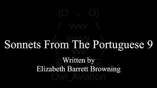 Sonnets From The Portuguese 9.…