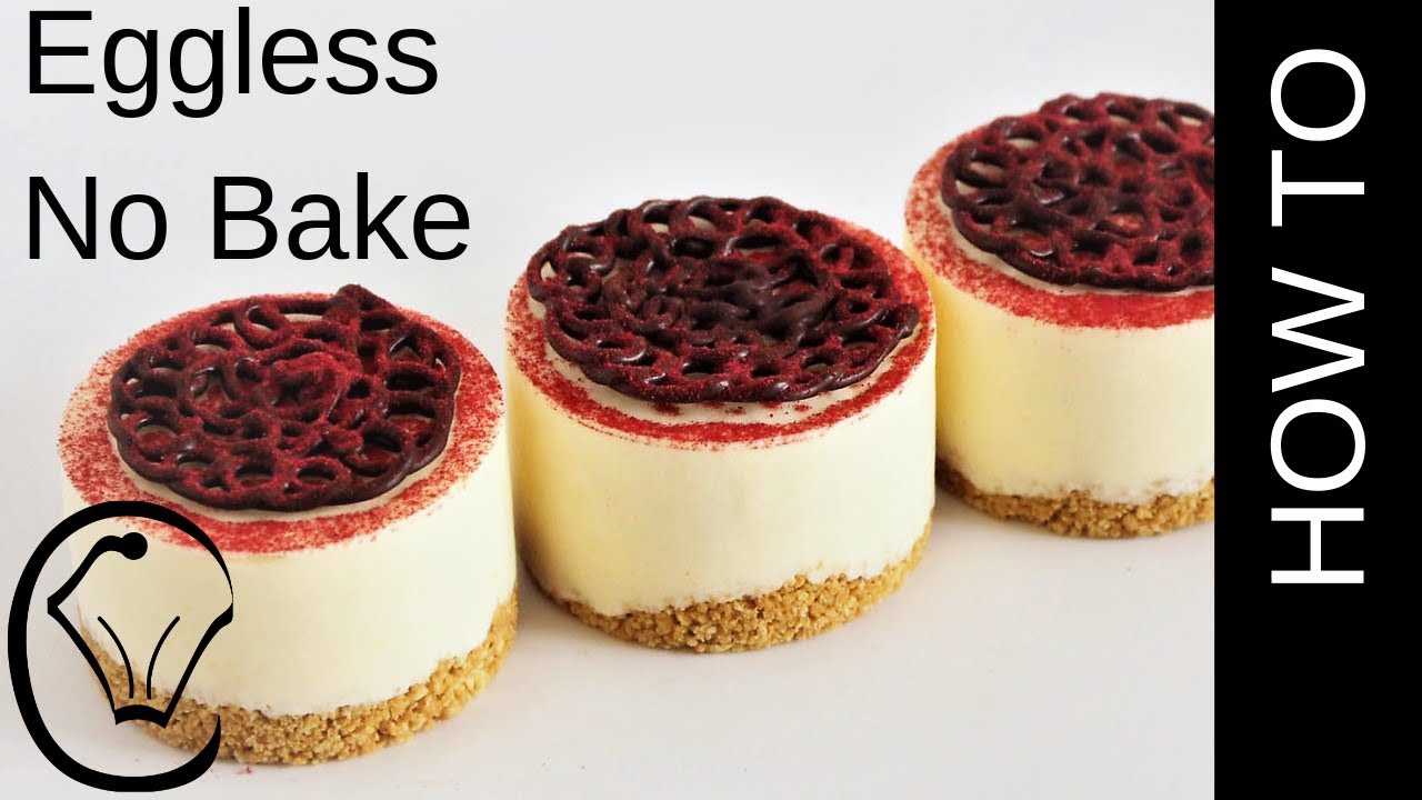 Vanilla Cheesecake Topped With Dark Chocolate And Raspberry No Bake No Egg