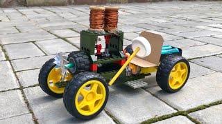 Amazing 2-cylinder Electric Engine Car #shorts