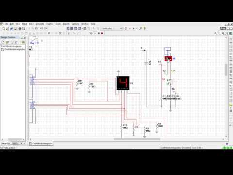 Binary to Decimal and Hex Decoder with Logic Gates Simulation on Multisim