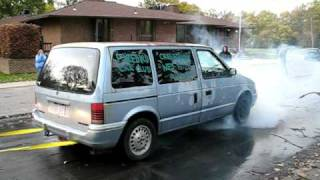 1991 Plymouth Voyager Burnout