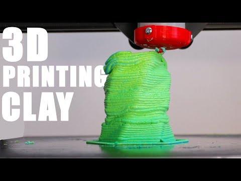 3D Printer Makes Ugly Clay Vase